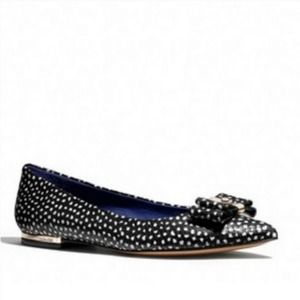 Coach Wendy Embossed Snake Leather Flats
